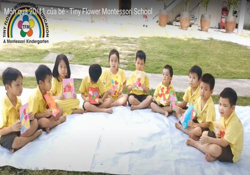 Món quà của các bé dành tặng cô giáo với thông điệp