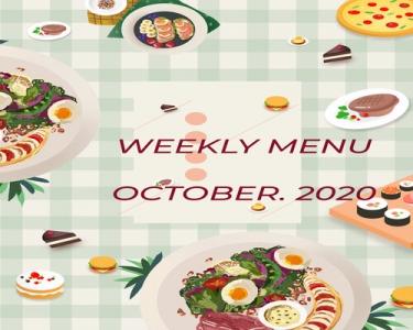 Thực đơn tuần 4 - tháng 10/2020
