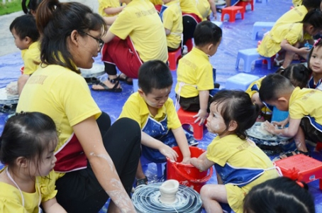 Pottery making activity