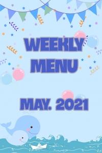 Thực đơn tuần 1 - tháng 5.2021
