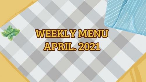 Thực đơn tuần 4 - tháng 4.2021