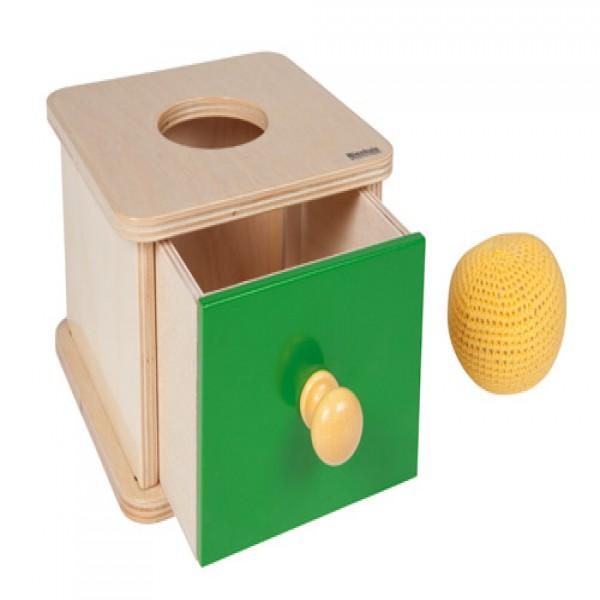 Hộp gỗ có ngăn kéo kèm cuộn len