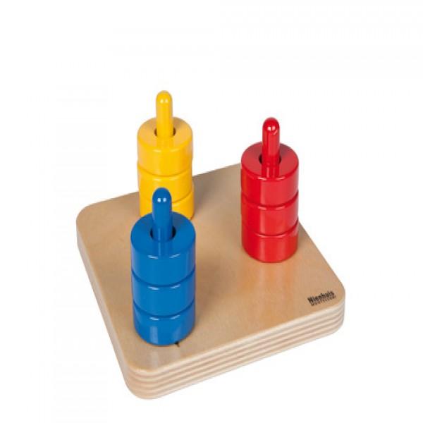 Cột xếp hình 3 màu (3 cột)