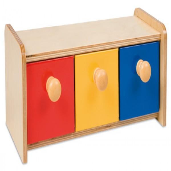 Hộp gỗ 3 hộc kéo 3 màu