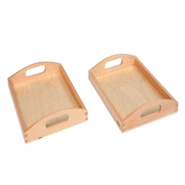 2 Khay gỗ nhỏ