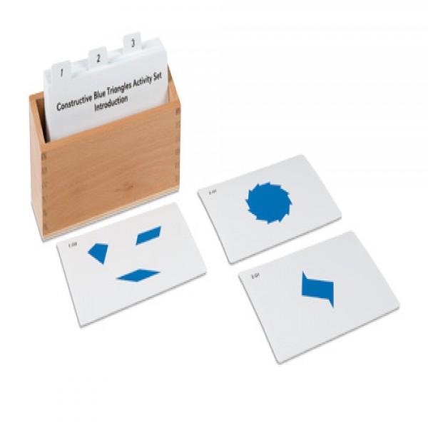 Bộ bài tập ghép hình tam giác xanh dương