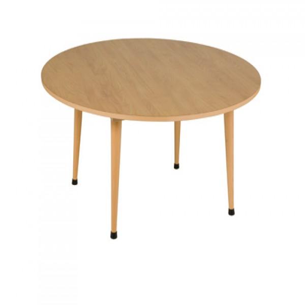 Bàn ngồi nhóm A1: Màu cam- tròn (115 x 46 cm)