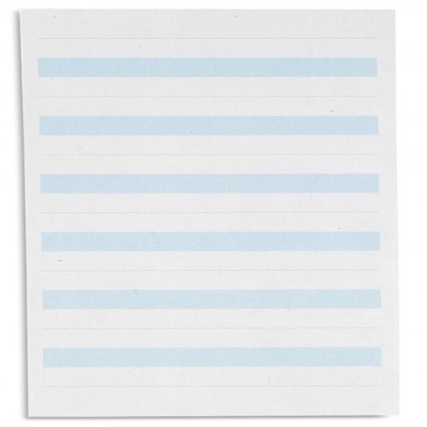 Giấy viết: Dòng kẻ màu xanh dương - 2.75 x 7 in - (500)