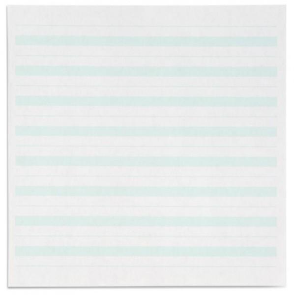 Giấy viết: Dòng kẻ màu xanh lá cây  - 7 x 8.5 in - (500)